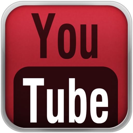 Red Youtube Black Icon