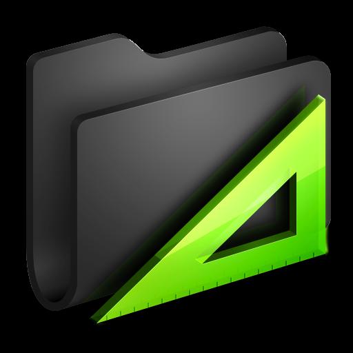 Applications Black Folder Icon Alumin Folders Iconset Wil Nichols