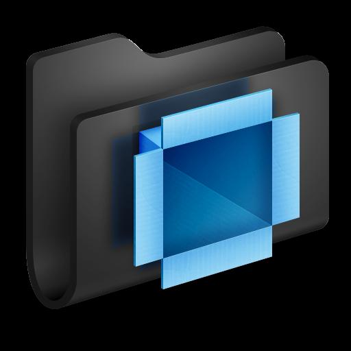 Dropbox Black Folder Icon Alumin Folders Iconset Wil Nichols