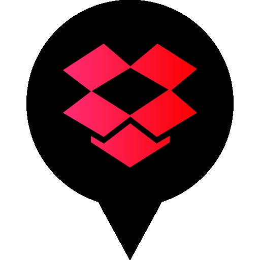 Dropbox Free Black Red Social Media Pn Designed