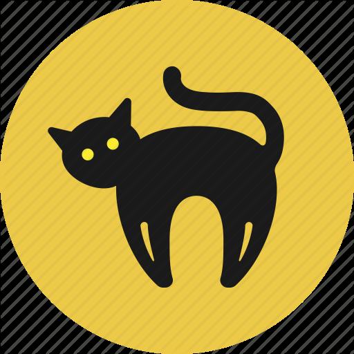 Animal, Black Cat, Cat, Halloween Icon