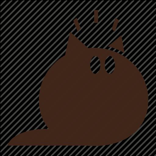 Black Cat, Cartoon, Cat, Pet, Pop Eyed, Surprised Icon