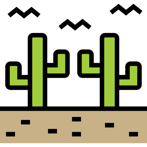 Nature Desert Black Icon