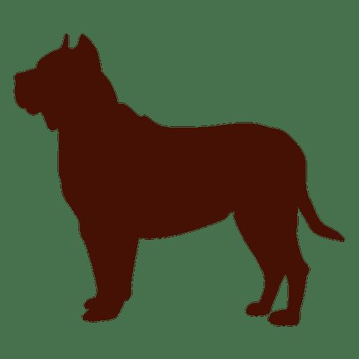 Pitbull Dog Silhouette