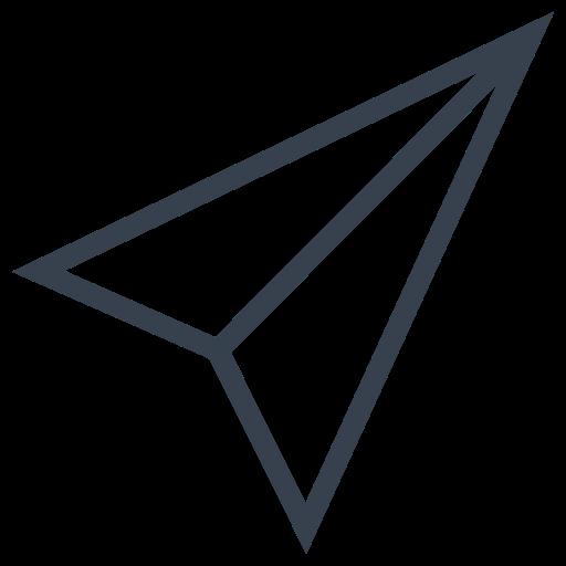 Letter Outline Black Icon