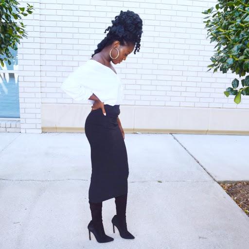 Instagram Inspired Off Shoulder Button Up Trend + Black Spandex