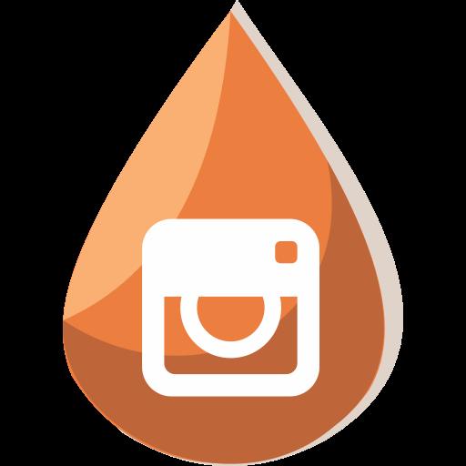 Social Media Instagram Black Icon