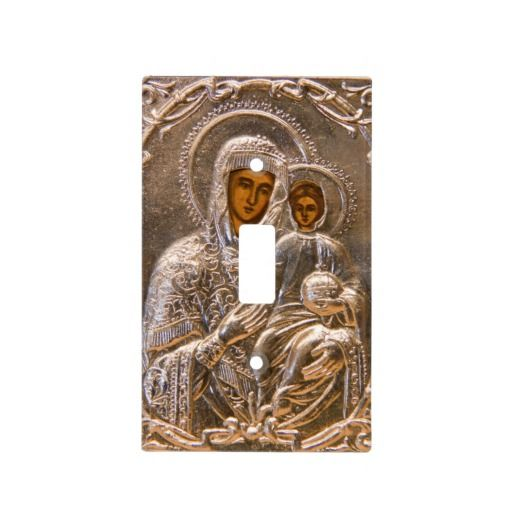 Orthodox Icon Light Switch Covers Jesus Christ And His Mother