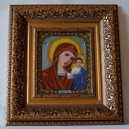 Our Lady Kazanska Orthodox Bead Embroidered Icon Lado On Artfire
