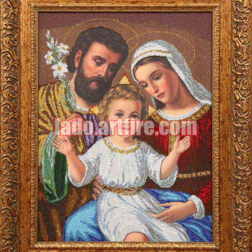 The Holy Family Religious Picture Bead Embroidery Diy Kit Lado
