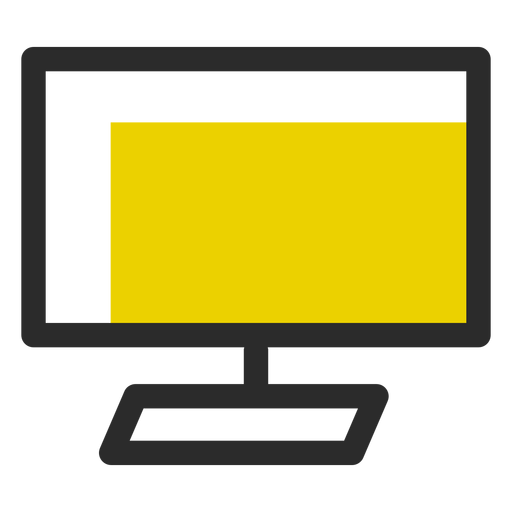 Computer Monitor Colored Stroke Icon Office Icons