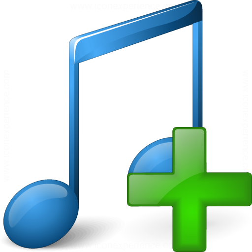 Iconexperience V Collection Music Blue Add Icon