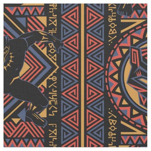 Black Panther Wakandan Black Panther Panel Fabric Zazzle Ca