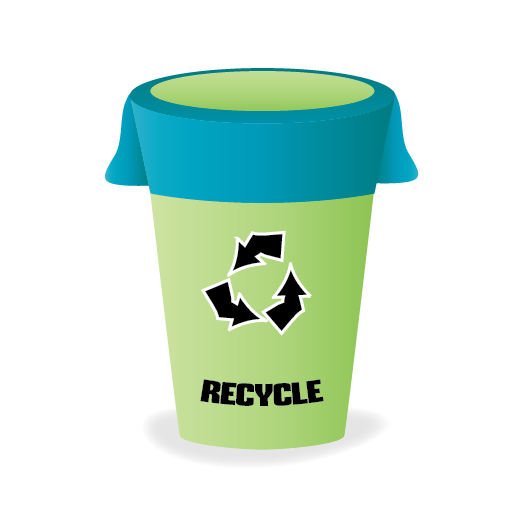 Bin, Cleaning, Janitor, Recycle Icon