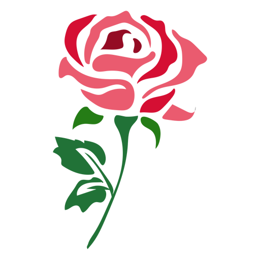 Beautiful Red Rose Icon Flower