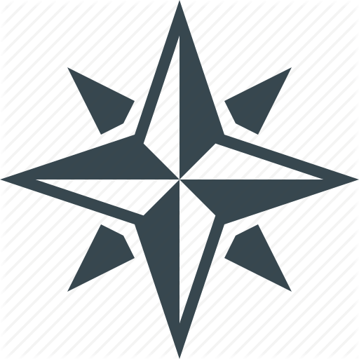 Compass, Gps, Map, Navigation, Rose Of Wind, Star, Wind Icon