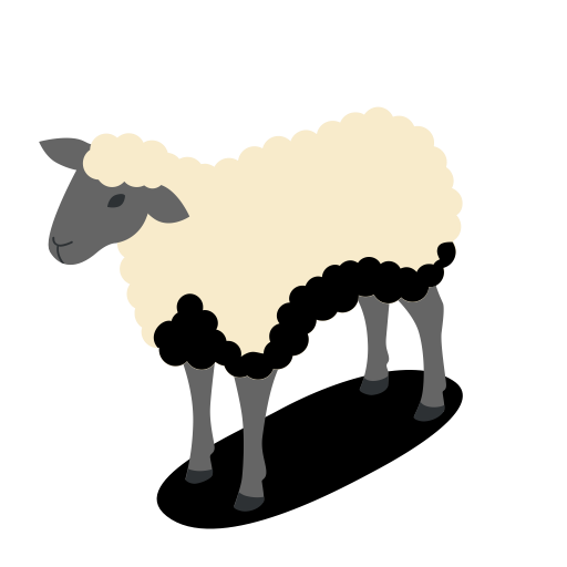 Anti Black Sheep, Sheep Icon With Png And Vector Format For Free