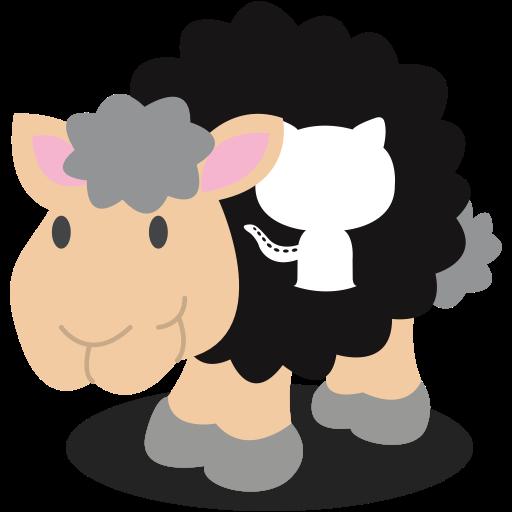 Social Media Sheep Black Icon
