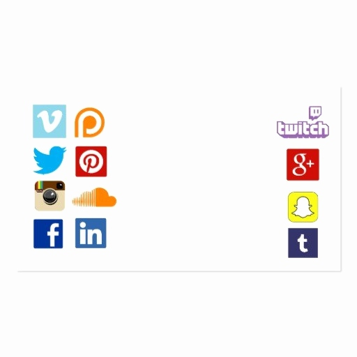 Social Media Logos For Business Cards New Professional Black
