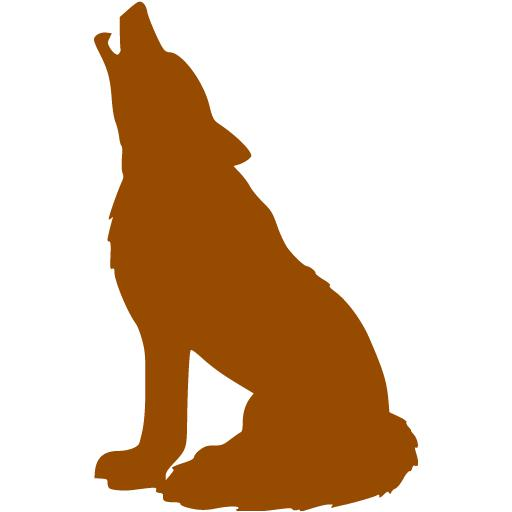 Brown Wolf Icon