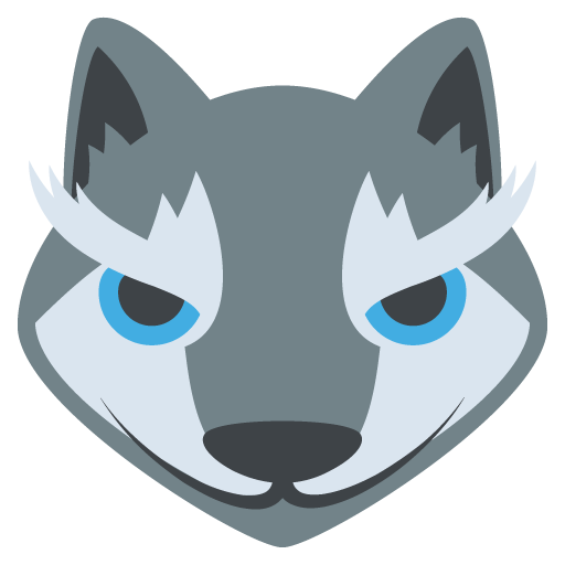Wolf Face Emoji Vector Icon Lobos Wolf Emoji