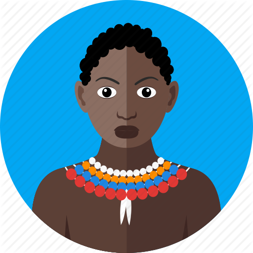 Africa, African, Black Woman, National, Nationality, Tribal, Wild Icon
