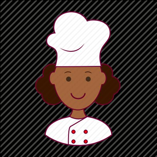 Black Woman, Chef, Emprego, Job, Professions, Trabalho, Work Icon