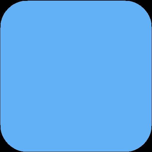Tropical Blue Square Ios App Icon