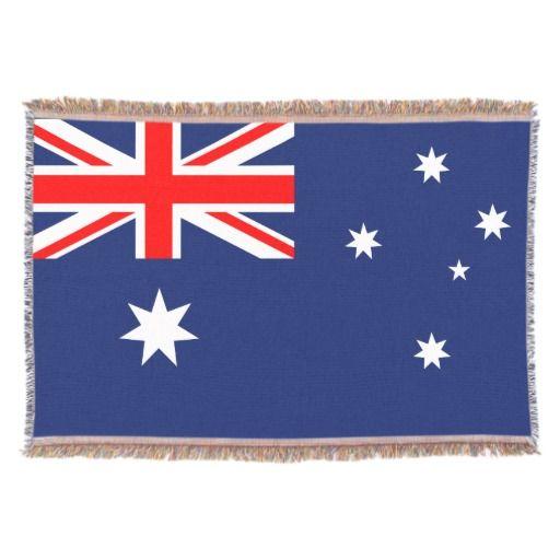 Australia Flag Throw Blanket Australia Flag And Australian