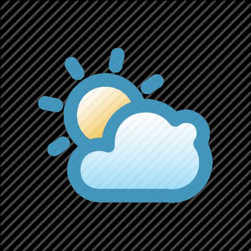 Blitzcon, Cloud, Line, Mix, Sun, Warm, Weather Icon