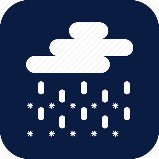 Blizzard, Night, Rain, Sleet, Snow, Snow And Rain, Weather Icon
