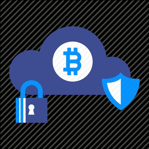 Bitcoin, Blockchain, Cloud, Coin, Computer, Money, Security Icon