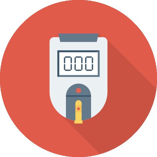 Sugar Blood Level Icon Medical Dinosoftlabs