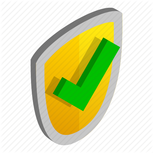 Emblem, Gold, Green, Isometric, Security, Shield, Yellow Icon