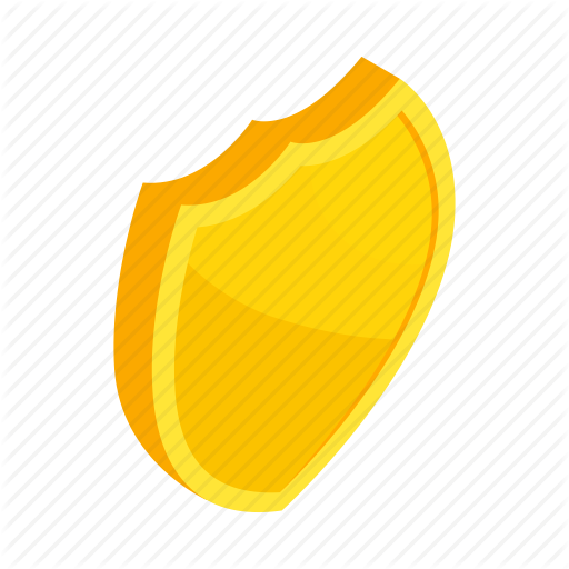 Emblem, Gold, Isometric, Protection, Security, Shield, Yellow Icon