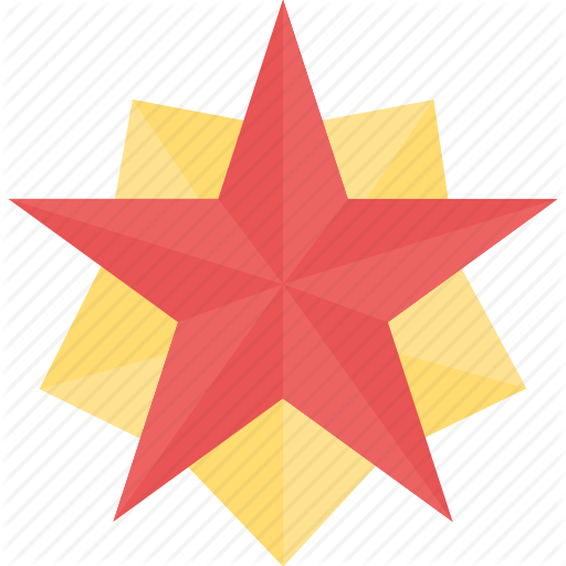 Glorious Badge, Glossy Shield, Pentagonal Star, Security Badge