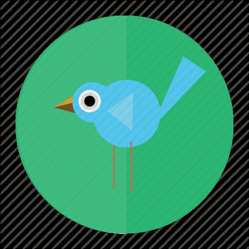 Bird, Bluebird, Forest, Twitter Icon