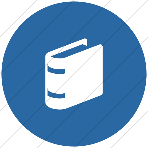 Flat Circle White On Blue Raphael Book Icon