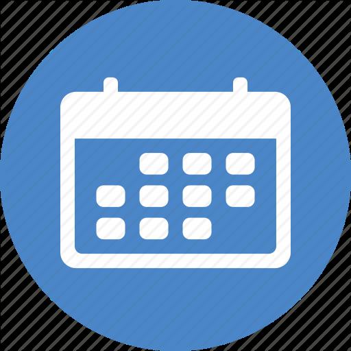 Blue, Calendar, Circle, Date, Month, Planner, Schedule Icon