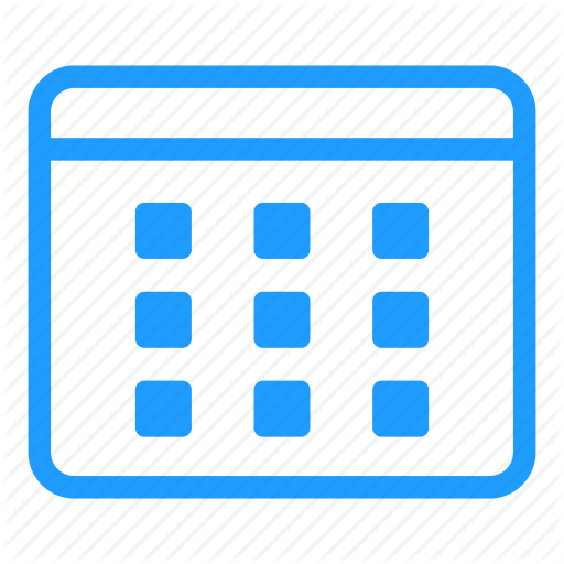 Blue, Calendar, Date, Day, Event, Months, Time Icon