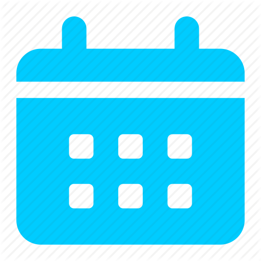 Blue, Calendar, Date, Event, Reminder Icon