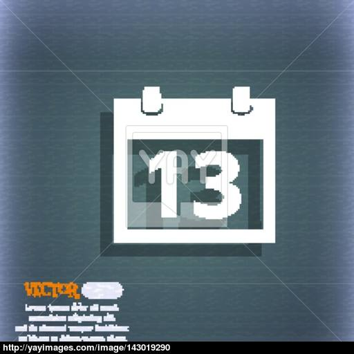 Calendar Sign Icon Days Month Symbol Date Button On The Blue