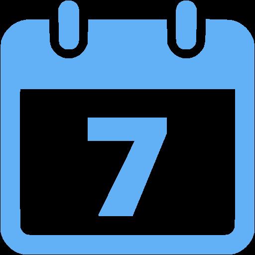 Tropical Blue Calendar Icon