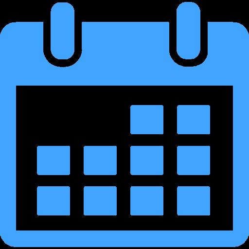 Blue Calendar Icon