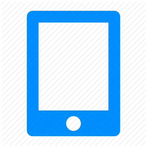 Apple, Blue, Ipad, Mobile, Phone Icon