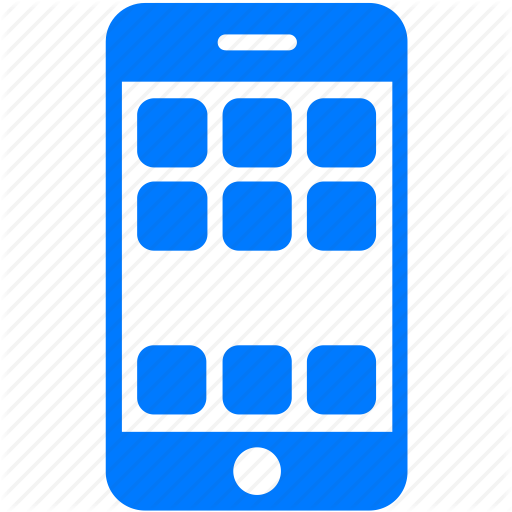 Blue Cell Phone Icon at GetDrawings com | Free Blue Cell