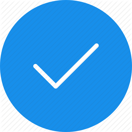 Accept, Blue, Check, Circle, Ok, Success Icon
