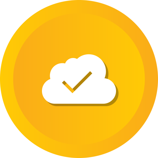 Data, Cloudy, Computing, Blue, Check, Cloud Icon