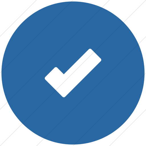 Flat Circle White On Blue Foundation Check Icon