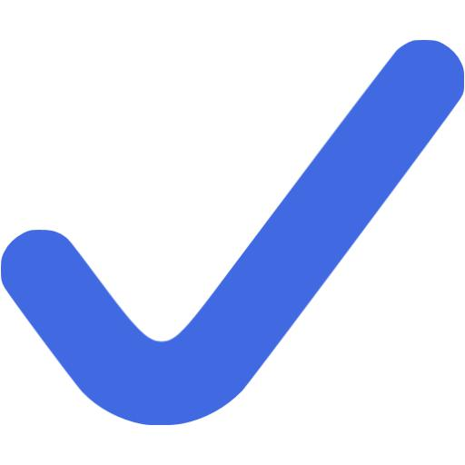 Royal Blue Check Mark Icon